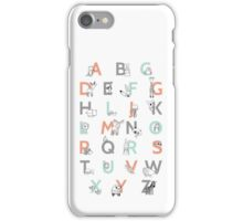 Animal Alphabet iPhone Case/Skin