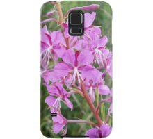 Pink Flower Stalk Samsung Galaxy Case/Skin
