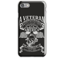 A VETERAN iPhone Case/Skin