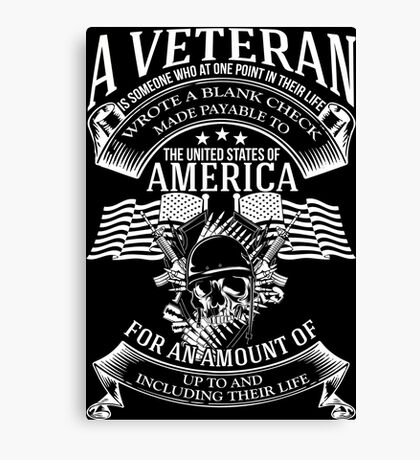 A VETERAN Canvas Print