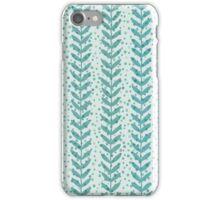 Seaweed seamless transparent pattern. Blue water wallpaper. iPhone Case/Skin