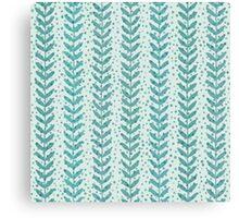 Seaweed seamless transparent pattern. Blue water wallpaper. Canvas Print