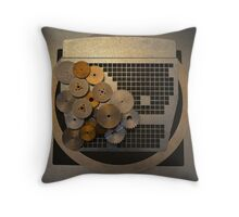 Just Normal Gears Abstract Throw Pillow