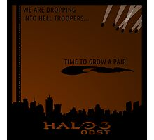 Minimalist Halo 3 ODST Poster Photographic Print