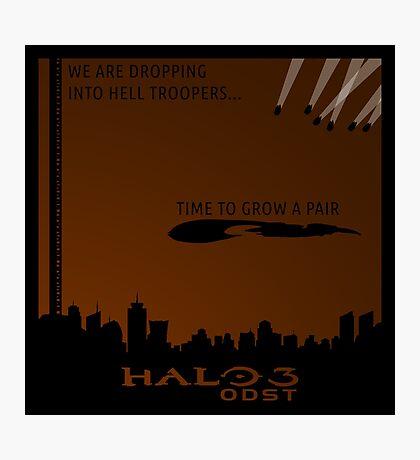 Minimalist Halo 3 ODST Poster Photographic Print