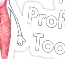 Professor toothy Sticker