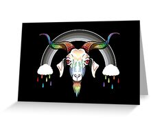 Rainbow Goat Greeting Card
