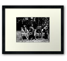 Funeral Party Framed Print