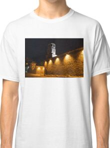 Of Stone Walls and Bell Towers - Yellow Lit Night in Old Town Plovdiv, Bulgaria Classic T-Shirt