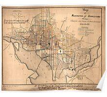 Vintage Map of Washington D.C. (1879) Poster
