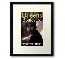 """Queens Boulevard"" Poster Design Framed Print"