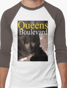 """""""Queens Boulevard"""" Poster Design Men's Baseball ¾ T-Shirt"""