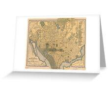 Vintage Map of Washington D.C. (1893) Greeting Card