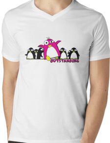 Outstanding Penguin Mens V-Neck T-Shirt