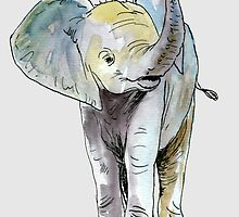 Baby Elephant by RiverbyNight