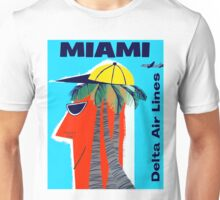 """""""DELTA AIR LINES"""" Fly to Miami Print Unisex T-Shirt"""