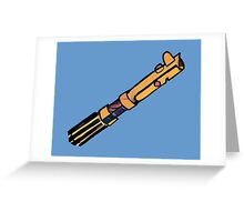 """The Pimped Saber"" Greeting Card"