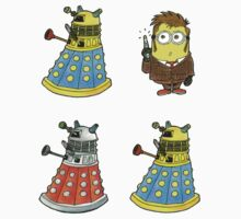 10th Minion Doctor and Daleks by RiverbyNight