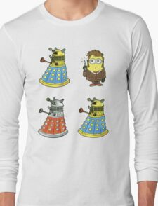 10th Minion Doctor and Daleks Long Sleeve T-Shirt