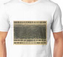 Vintage Pictorial Map of Waterbury CT (1917) Unisex T-Shirt
