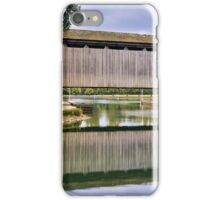 Brownsville Covered Bridge Reflection iPhone Case/Skin