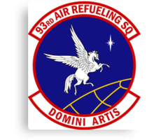 93rd Air Refueling Squadron - Domini Artis - Masters Of The Art Canvas Print