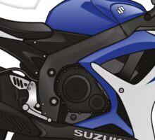 Suzuki GSX-R 600 2007 Blue Sticker