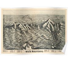 Vintage Map of The White Mountains (1890) Poster