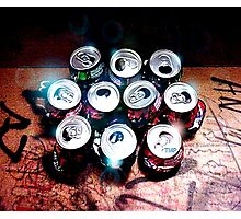 Ten Cans Photographic Print