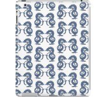 Dancing Dragons - White & Blue iPad Case/Skin
