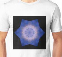 Lilac Morning Glory Flowery Candle Flame Mandala Unisex T-Shirt