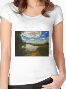 BEAUTIFUL AFTERNOON Women's Fitted Scoop T-Shirt