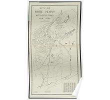 Vintage Map of White Plains NY (1921) Poster