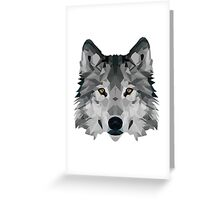 Crystalline Wolf Greeting Card
