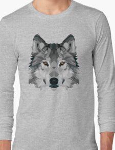 Crystalline Wolf Long Sleeve T-Shirt