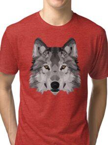 Crystalline Wolf Tri-blend T-Shirt