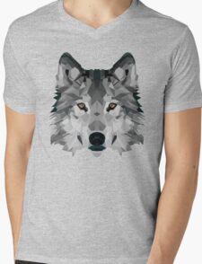 Crystalline Wolf Mens V-Neck T-Shirt