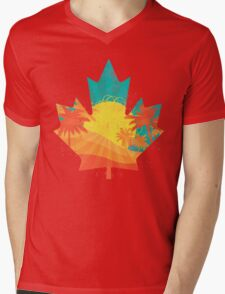 Canada Sunrise Mens V-Neck T-Shirt