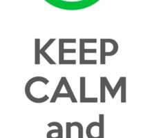Keep calm and implement IPv6 - bw Sticker