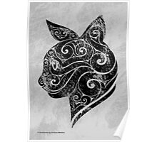Swirly Cat Poster