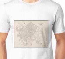 Vintage Map of Wilmington Delaware (1921) Unisex T-Shirt