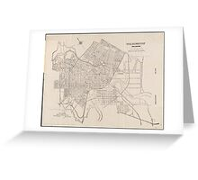 Vintage Map of Wilmington Delaware (1921) Greeting Card