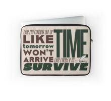 Write Like I'm Running Out of Time (Brown) Laptop Sleeve