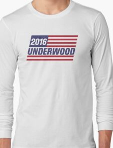Frank Underwood Flag - High Quality Resolution Long Sleeve T-Shirt