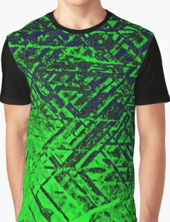 Techno Stone, Green (Texture) Graphic T-Shirt