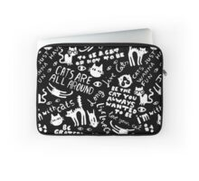 Cats Are All Around - Black Laptop Sleeve