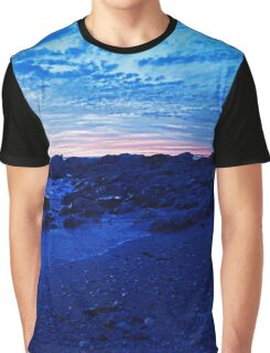 Moody Blue Beach Tones Graphic T-Shirt