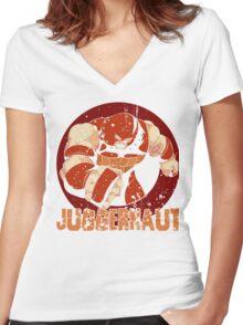 Juggernaut •X-Men Villain  Women's Fitted V-Neck T-Shirt