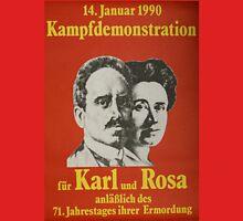 Karl Liebknecht and Rosa Luxemburg, Communist Propaganda Poster  Unisex T-Shirt