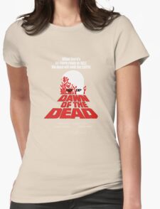 romero cult movie dawn of the  dead Womens Fitted T-Shirt